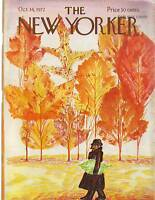 1972 New Yorker October 14-Refuses to admit it's Autumn