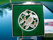 Lenox China Partridge Days Of Christmas Ornament Replacement In Gold Box