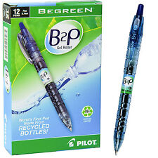 Box of 12, Pilot B2P Blue Gel Ink 0.7mm Rollerball Pen, 89% Recycled Content