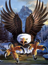 New Eagle Lenticular 3D Picture Animal Poster Painting Home Decor Wall Art Decor