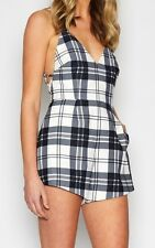 Finders Keepers Stand Still Tartan Play suit XS