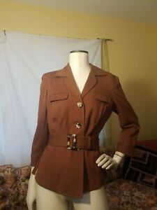 New with Tags Saks Fifth Ave Sport Military Women's Jacket Size 8