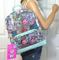 Betsey Johnson Backpack Bag Clear Mermaid Jellyfish Seahorse NWT