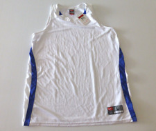 Nike Fit Dry Womens Size L (12-14) Royal Blue & White Mesh Jersey Shirt New