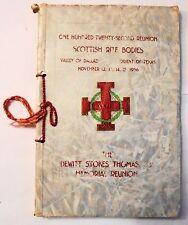 Dewitt Stokes Thomas Memorial Reunion Scottish Rite Bodies Dallas 1956 Program