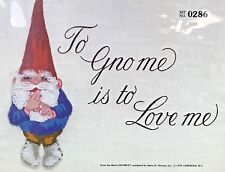 "Vtg Paragon Needlecraft Kit ""To Gno me is to Love Me"" Gnomes in Stitchery #0286"