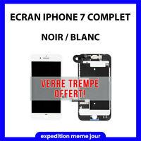 ECRAN IPHONE 7 COMPLET LCD VITRE TACTILE NOIR / BLANC + OUTILS