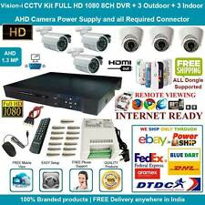 CCTV SYSTEM CCTV KIT 8 CHANNEL 1080HD DVR + 3 BULLET + 3 INDOOR AHD CAMERAS