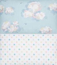 Cath Kidston Bundle 2 * 44cm square clouds & birds + multi spots lightweight new