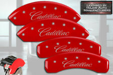 """2006-2011 """"Cadillac"""" DTS Front + Rear Red MGP Brake Disc Caliper Covers 4pc Set"""