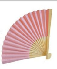 50 Light Pink Paper Fans Outdoor Wedding Favors