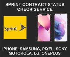 Sprint USA IMEI Pro Check Service, SPCS, Blacklist, Bills, iPhone, Samsung, LG