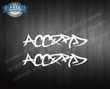 (2) Decal Sticker Compatible With Honda Accord jdm ivtec coupe 4 door