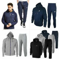 Mens NIKE Full Tracksuit Set Foundation Fleece Hoodie Pullover Joggers Bottoms