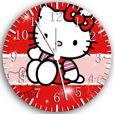 Hello Kitty Frameless Borderless Wall Clock Nice For Gifts or Decor W128