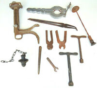 Mixed Lot 11 Vintage Tools Antique Pliers Plug Clamps Last Unusual Weird Odd  IT