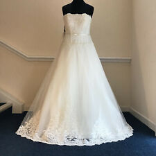 Sample Gown With Tags Stunning LENOVIA Ivory Strapless Wedding Dress Size 18