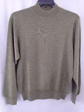 Mens Fine Merino Wool Pullover Heather Green Sweater Sz M Nordstrom Mock Neck