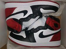 Wmns Air Jordan 1 High OG 'Satin Black Toe' CD0461-016 Blk/Blk-Wht-Vst Rd Sz 8.5