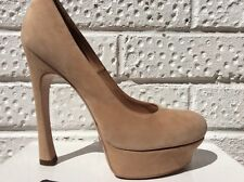 YSL YVES SAINT LAURENT Palais Nude Shoes Suede 7 40.5 New