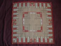 #424 Beautiful Vintage Hand-embroidered Tablecloth 67cm/67cm(26''/26'')