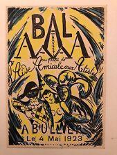 """OTHON-FRIEFZ  """"BAL AAA A BULLIER 1923"""""""