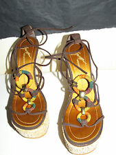 Giuseppe Zanotti gladiator wedges sandals platform size 6.5 NWOB