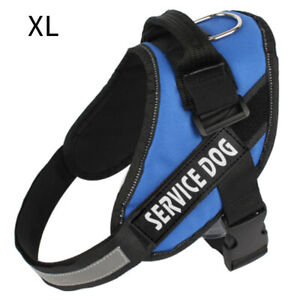 Dog No Pull Reflective Training Service Harness Vest For Dogs w/ Nylon Handle