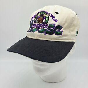 Vintage Minnesota Moose 90s #1 Apparel IHL Minor League Hockey Snapback Hat READ