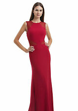 JS Collection Cut Out Evening Dress Red Size UK 8 £159 Box4539 W