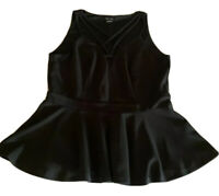Ladies plus size S CITY CHIC Black PEPLUM dressy summer  sleeveless top