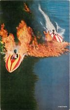 1950s Speedboats Cypress Gardens Florida Record Press postcard 1913