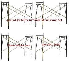 "4 SET of 3' X 6'8"" X 10' Plastering Masonry Scaffold Frame Set CBMscaffoldcom"