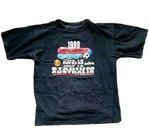 Vintage 1999 Sharp Challenge Cup L T-Shirt Manchester United V Socceroos MCG
