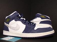 2001 Nike Air Jordan I Retro 1+ WHITE NAVY BLUE SILVER BLACK RED 136065-101 11.5
