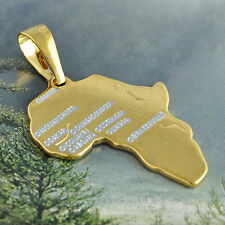 gold filled stainless steel pendant Africa Map for stainless steel necklace