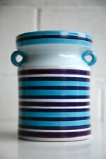 Rare 1960s Hand Painted Jug / Vase Faience by Stig Lindberg for Gustavsberg
