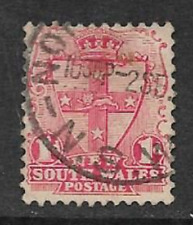 NEW SOUTH WALES STATE POSTAGE STAMP KE V11 ERA USED ONE PENNY 1905