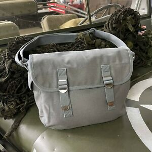 US Army Style Canvas Kampftasche Schultertasche Bag WWII Airforce USAAF Nam Grau