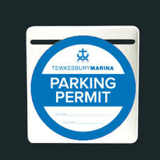 WHITE PARKING PERMIT HOLDER SELF ADHESIVE TICKET HOLDER FOR WINDSCREEN