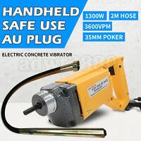 1300W Electric Concrete Vibrator 3600VPM 35mm Needle 2m Hose Cement Construct AU