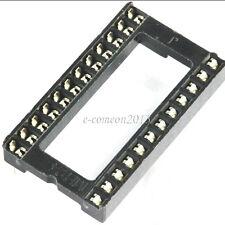 20PCS Wide 24 pin DIP24 IC Sockets Integrated Circuit Adaptor Solder Type Socket