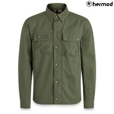 Belstaff Mansion Armoured Motorbike Motorcycle Riding Shirt - Forest Green