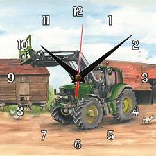 No.114 John Deere 6920S Tractor Sue Podbery Wall clock handmade gift present
