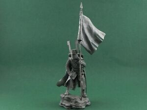 Tin toy soldier Teutonic knight XII cen. Metall sculpture 54 mm