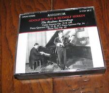 ADOLF BUSCH & RUDOLF SERKIN The Brahms Recordings 3 CD SET ANDROMEDA