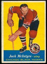 1957-58 TOPPS HOCKEY #28 JACK McINTYRE VG CHICAGO BLACK HAWKS CARD