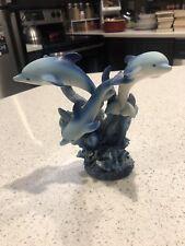 Porcelain Glass Dolphin Figurine