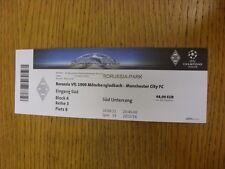 30/09/2015 Ticket: Borussia Monchengladbach v Manchester City [Champions League]