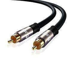 10m 1 Rca Macho A Macho subwoofer/digital Coaxial Cable Lead-Phono de audio/video